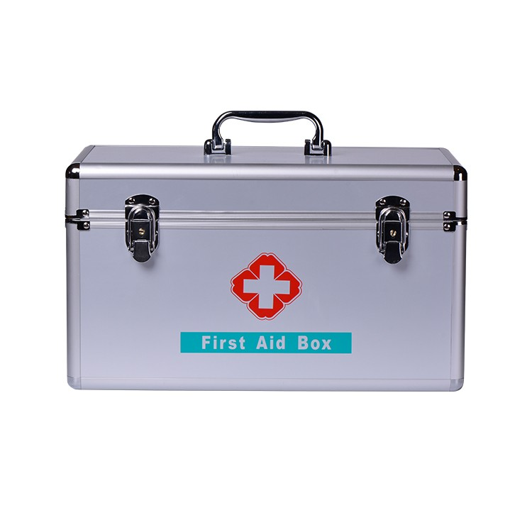China Supplier Two Tier Large First Aid Kit Carry Box With Shoulder Strap