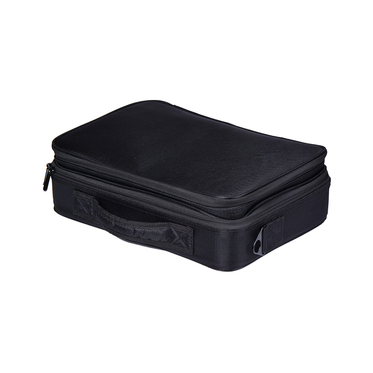Made In Guangdong Portable Barber's Tool Bag, Professional Grooming Tool Case, Cosmetic Case With Dividers