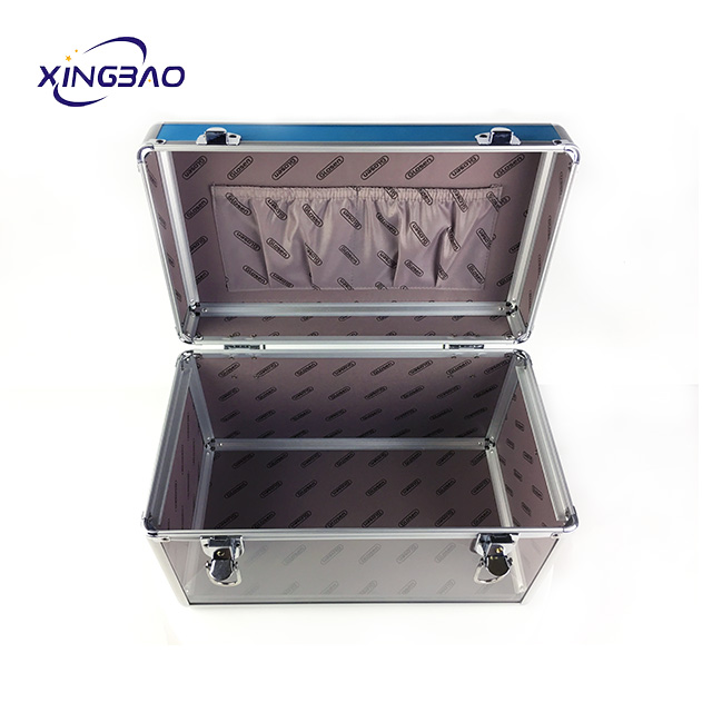 Red Cube Thick Clear Acrylic Display Storage Box Makeup Case For Aluminum cosmetic case  - 副本