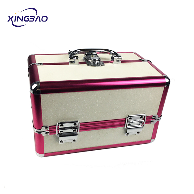 Fashion portable portable multi-function shiny makeup box